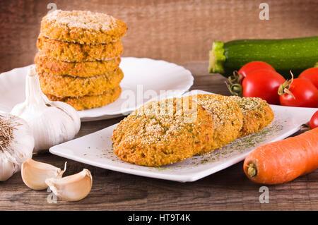 Gemüse Hamburger. - Stockfoto
