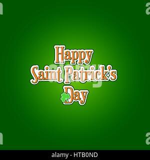 St. Patricks Day Hintergrund mit typografischen label - Stockfoto