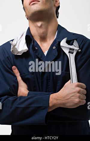 Porträt eines Mechanikers - Stockfoto