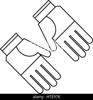 Gartenarbeit Handschuhe Schutz dünne Linie - Stockfoto