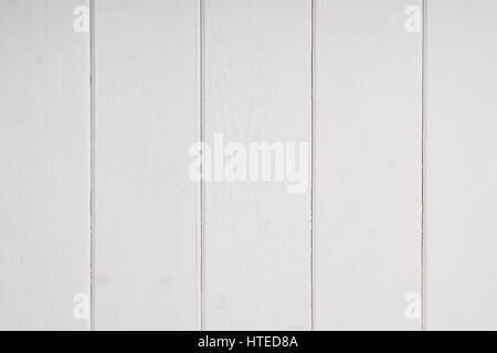 rustikale weiße Holz Wandverkleidung Hintergrundtextur - Stockfoto