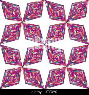 Hand gezeichneten Ornament Muster. Vektor geometrischen Maßwerk nahtlose Hintergrund. Abstrakte bunte Raute Textur - Stockfoto