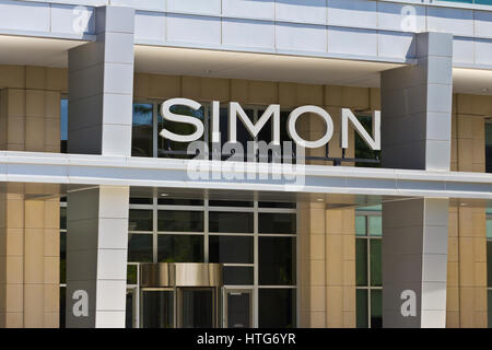 Indianapolis - ca. Juni 2016: Simon Property Group World Headquarters. SPG ist ein Commercial Real Estate Investment - Stockfoto