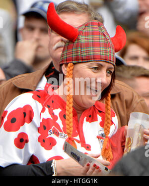 Twickenham Stadium, London, UK. 11. März 2017. Six Nations International Rugby England Vs Schottland im RFU Twickenham - Stockfoto