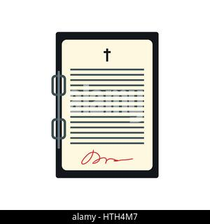 Testament-Brief-Symbol - Stockfoto