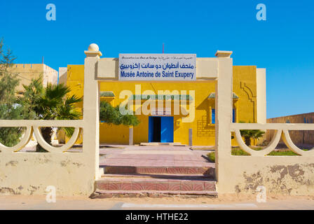 Musee Antoine de Saint Exupery, Tarfaya, Laayoune Sakia El Hamra Region, Soutwestern Marokko - Stockfoto