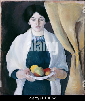 Macke, August - Porträt mit Äpfeln - Google Art Project - Stockfoto