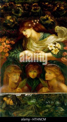 Dante Gabriel Rossetti Blessed Damozel - Stockfoto
