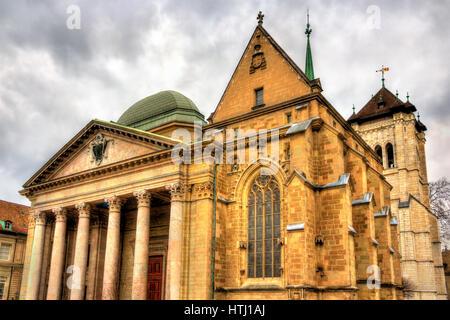 Saint-Pierre-Kathedrale von Genf in der Schweiz - Stockfoto