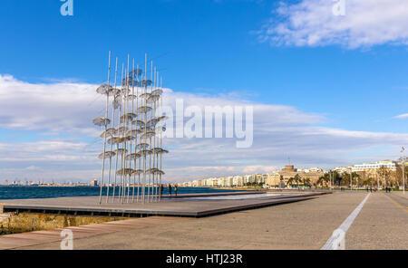 Blick auf Meer in Thessaloniki - Griechenland - Stockfoto