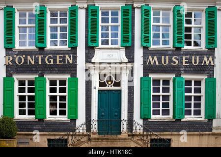 Deutsche Röntgen-Museum Remscheid-Lennep, Bergisches Land, Nordrhein-Westfalen, Deutschland - Stockfoto