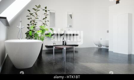 badewanne unter fenster in der modernen bad mit duschkabine stockfoto bild 181863845 alamy. Black Bedroom Furniture Sets. Home Design Ideas