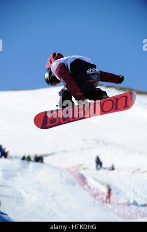 Sierra Nevada, Spanien. 10. März 2017. Hikaru Oe (JPN) Snowboarding: Hikaru Oe Japans konkurriert in der 2017 FIS - Stockfoto