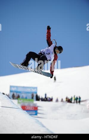 Sierra Nevada, Spanien. 10. März 2017. Haruna Matsumoto (JPN) Snowboarding: Haruna Matsumoto Japans konkurriert - Stockfoto