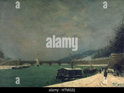 """Die Seine und die Jena-Brücke """", 1875. Öl auf Leinwand: Französisch-Post-Impressionisten Paul Gauguin (1848-1903) - Stockfoto"""