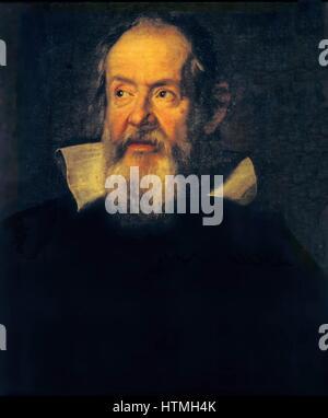 Porträt von Galileo Galilei flämischen Künstlers Justus Sustermans (1597-1681). Galileo (15 Februar 1564 – 8. Januar - Stockfoto