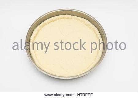 Teig Pizza Isoliert Hintergrund Weiße Gebäck Rohkost Küche