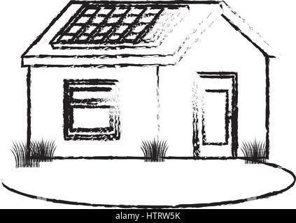 nettes Haus außen isolierten Symbol - Stockfoto