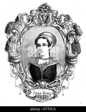 Lady Jane Grey, 1536/1537 - wurde 1554, auch bekannt als Lady Jane Dudley oder die neun-Tage-Königin, eine englische - Stockfoto