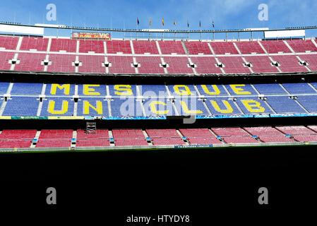 Camp Nou ist ein Fußballstadion in Barcelona, Spanien. Es ist auch die Heimat der Futbold Club Barcelona seit 1957. - Stockfoto