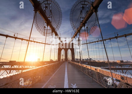 USA, New York, New York City, Brooklyn Bridge Stockfoto