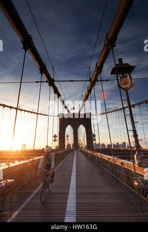 USA, New York, New York City, Brooklyn Bridge - Stockfoto