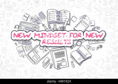 Neues Denken für neue Ergebnisse - Business-Konzept. - Stockfoto