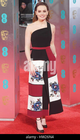 Daisy Ridley Teilnahme an der 2017 EE British Academy of Film and Television Arts Awards in der Royal Albert Hall, - Stockfoto