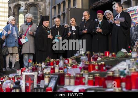 Berlin, Deutschland. 16. März 2017. Christen, Muslime, Juden, sowie Vertreter anderer Religionsgemeinschaften Berlin - Stockfoto