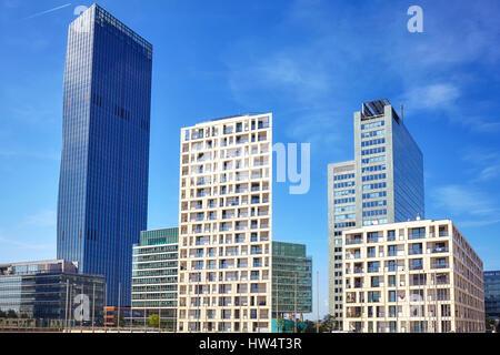 Vienna moderne Architektur in der UNO City Komplex, Österreich. - Stockfoto