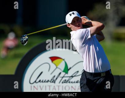 18. März 2017 - Orlando, Florida, USA-Lucas Glover am 16. Abschlag in der 3. Runde der Arnold Palmer Invitational. - Stockfoto