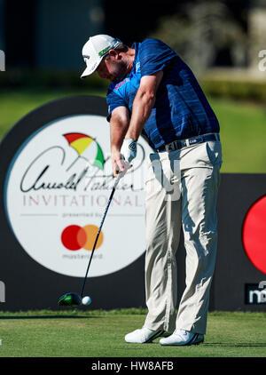 18. März 2017 - Orlando, Florida, USA-Marc Leishman Australiens am 16. Abschlag in der 3. Runde der Arnold Palmer - Stockfoto