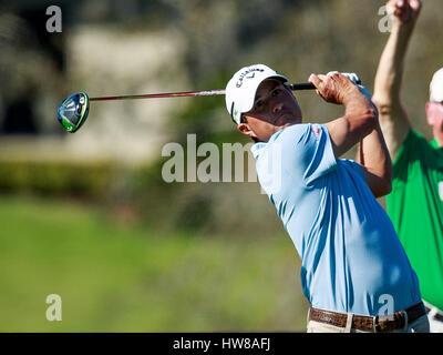 18. März 2017 - Orlando, Florida, USA - Kevin Kisner am 16. Abschlag in der 3. Runde der Arnold Palmer Invitational. - Stockfoto