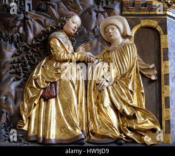 Heimsuchung Mariä, Maria am Berg-Kirche am 13. Dezember 2014 in Hallstatt, Österreich. - Stockfoto