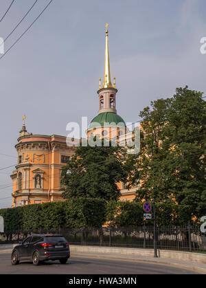 ST. PETERSBURG, Russland - 23. Juli 2016: St. Michael Schloss, auch genannt Mikhailovsky Castle oder Ingenieure - Stockfoto