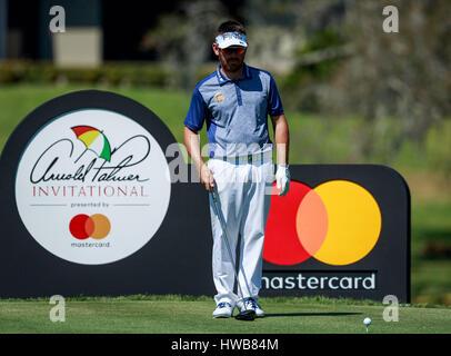 18. März 2017 - Orlando, Florida, USA-Louis Oosthuizen am 16. Abschlag in der dritten Runde der Arnold Palmer Invitational. - Stockfoto