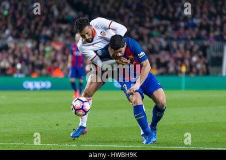 19. März 2017: Luis Suarez während des Spiels zwischen FC Barcelona gegen Valencia, für die rund 28 der Liga Santander - Stockfoto