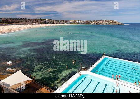 Bondi Beach und Eisberge Bad, Sydney, Australien - Stockfoto