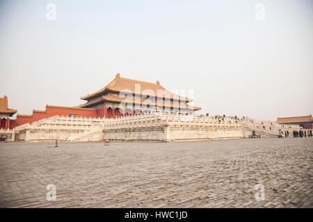TaiHe Dian (Halle der höchsten Harmonie) der verbotenen Stadt. Beijing. China - Stockfoto