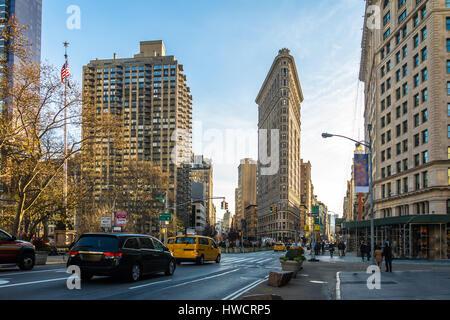 Gebäude nahe Madison Square Park - New York City, USA - Stockfoto