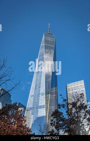 One World Trade Center in Lower Manhattan - New York, USA - Stockfoto