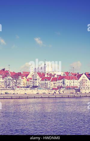 Farbe getönt Bild von Szczecin (Stettin) Stadt am Wasser, Polen. - Stockfoto