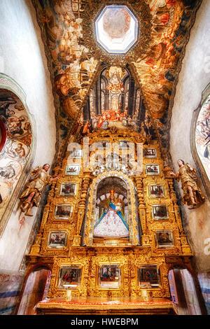 Kunstvoll verziert Flügel des Atotonilco Heiligtums in der Nähe von San Miguel de Allende, Mexiko. - Stockfoto