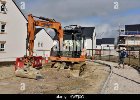 Haus Bau Wick, Baustelle, Wick, Vale of Glamorgan - Stockfoto