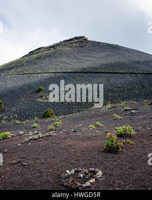 Blick in Richtung San Antonio Vulkan der Cumbre Vieja Region in Fuencaliente, la palma. Der Vulkan letzte 1677 Errupted. - Stockfoto