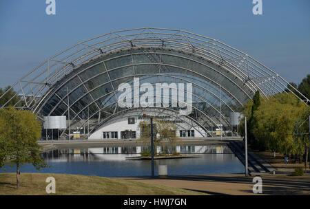 Glashalle, Neue Messe, Leipzig, Sachsen, Deutschland - Stockfoto