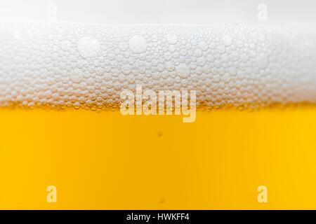 Bier Blasen Nahaufnahme - Stockfoto