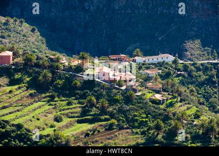 Masca, Barranco de Masca, Teno-Gebirge, Teno Landschaftspark, Teneriffa, Kanarische Inseln, Spanien - Stockfoto