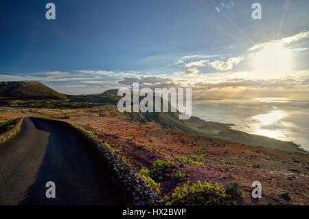 Kanarische Insel - Blick vom Mirador del Rio, Lanzarote - Stockfoto