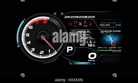 Armaturenbrett auto  Futuristisches Automobil Concept Auto Armaturenbrett Vektor ...